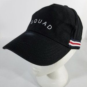 SQUAD Black Adjustable One Size Fits All Hat